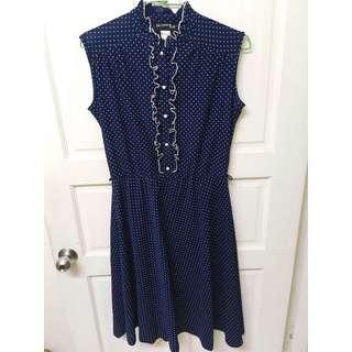 🚚 澳洲小店購入Jacqueline eve 藍色削肩洋裝