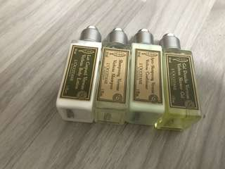 L'occitane Travel Kit (shampoo, shower gel, conditioner, lotion)
