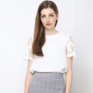 BN the willow label Gillian lace tee