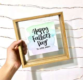 Father's day watercolour frame gift