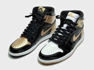air jordan 1 top 3 Gold size
