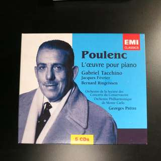 Poulenc: L'oeuvre pour piano (Tacchino and others) (5 CDs)