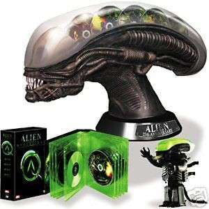 Alien Anthology boxset with huge alien head and bluray