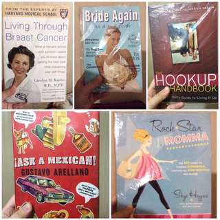 Books (cancer, marriage, dating)
