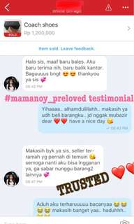 TESTIMONIAL❤️TRUSTED💯