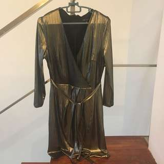 Newlook golden dress