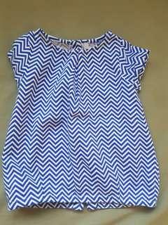 Blue spiral dress