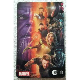 Brand New Marvel Avengers Infinity War Ezlink Card (Mint Condition)