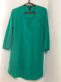 MANGO亮綠色洋裝