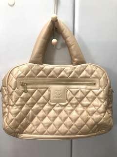 Chanel 太空棉 袋 包 金