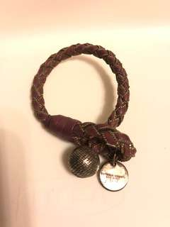 BV bracelet (purple) with metal trims