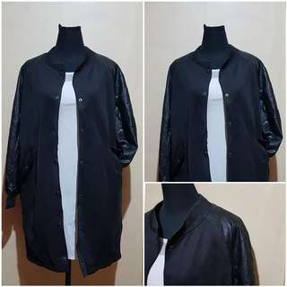 Bomber Concept with Leather Sleeves