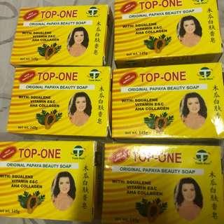 Top-one original beauty papaya soap