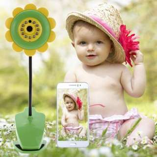 SUNFLOWER WIRELESS BABY SECURITY MONITOR WITH CAMERA VIDEO TWO - WAY AUDIO NIGHT VISION