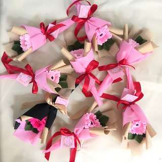 Mini bouquet (buket bunga flanel)