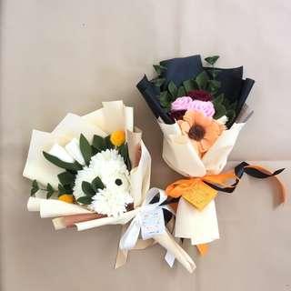 Buket bunga flanel (flowers bouquet)🌷