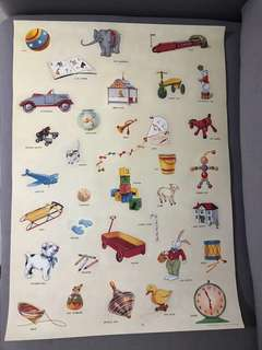 Cavallini Vintage Toy Poster
