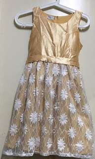 Gold Dress With Detailing