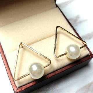 日本時尚型格純銀珍珠防敏感耳環 Japanese Fashion Sterling Silver Pearl Sensitive Earrings