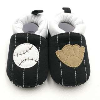 Baby Shoes Baseball Themed