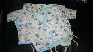 Newborn wrap tie short-sleeved top (3for200)