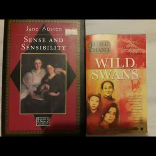 1. Sense Sensibility 2. Wild Swans