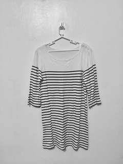 Long Stripes Baggy Top