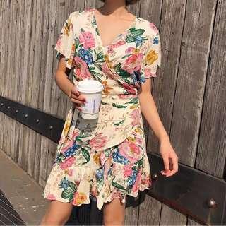Olivia Floral Ruffle Dress