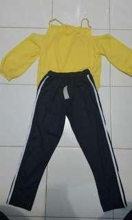 Sabrina yellow bkk dan pants list bkk new sale