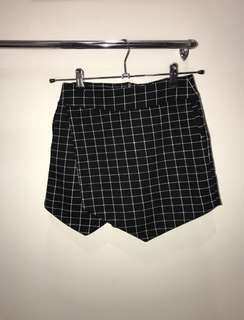 Black & White checkered shorts