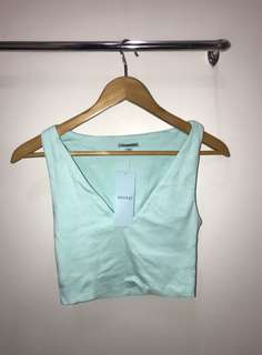 Kookai blue crop top