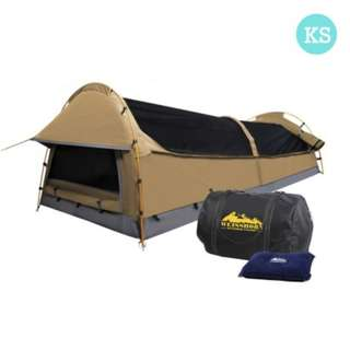 King Single Size Canvas Tent - Beige