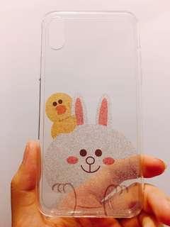 Line公仔閃粉iPhone X手機殼