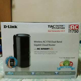 D Link Wireless AC1750 Dual Band Cloud Router