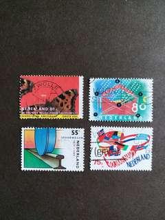 荷蘭郵票 已銷郵票4枚
