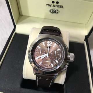 TW Steel CEO 45mm Chronograph Leather Men's Watch CE1011R