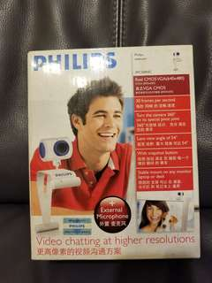 Philips webcam + external microphone