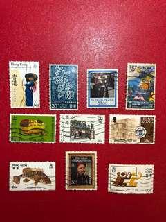 香港郵票-蓋銷散票10張