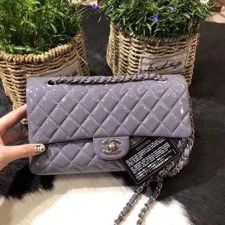 Chanel正品熏衣草紫色配件卡塵袋盒子尺寸25.5cm