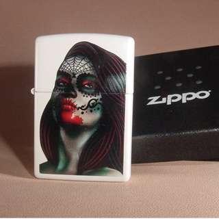 美國ZiPPO 打火機 29400 Day Of The Dead Lady Tattoo
