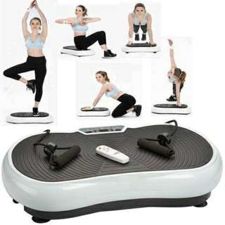 Vibration Power Plate Slim Exercise Gym Fitness Machine BLK