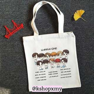 Wanna One Group Cotton Canvas Bag