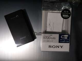 Sony CycleEnergy Powerbank 8700mAH and Sony MDR EX150ip