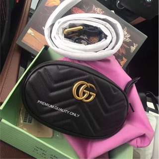 Gucci Marmont GG belt bag - black