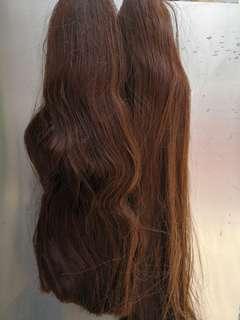 宗色头发,长度6Ocm 约有四十公斤,有意者pm我