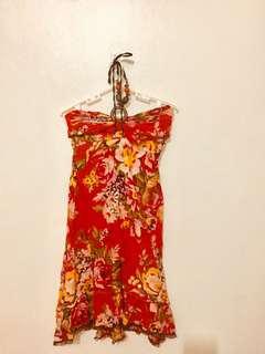 Handmade Floral Beach Dress/Coverup