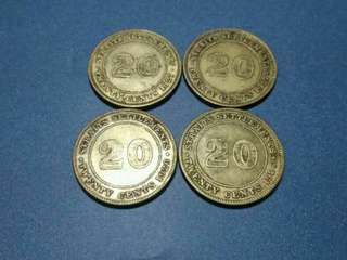 20 Cents Straits Settlements 1926&1927(Silver)