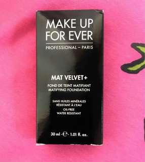 Make Up For Ever Mat Velvet+ Matifying Foundation
