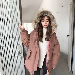 Dusty pink winter jacket