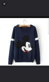 Navy Mickey Sweater